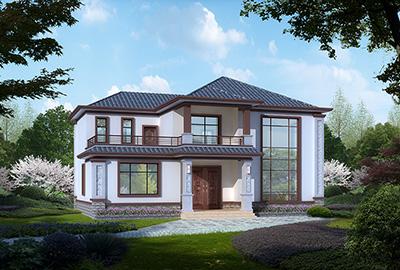 中式别墅设计图纸及效果图大全 二层自建房设计图