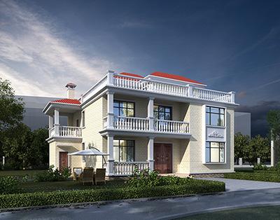 欧式二层房子设计图图纸 房屋设计图全套