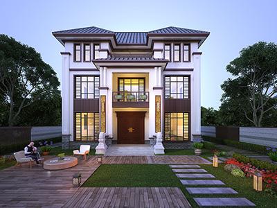 三层中式房屋设计图及效果图