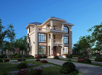 农村自建房设计图 自建三层欧式别墅造价40万