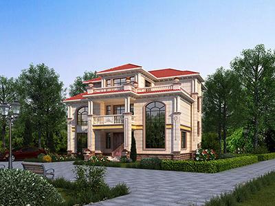 三层欧式别墅设计图纸及效果图大全