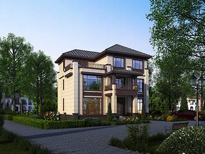 农村三层自建房设计图大全 新中式别墅设计图