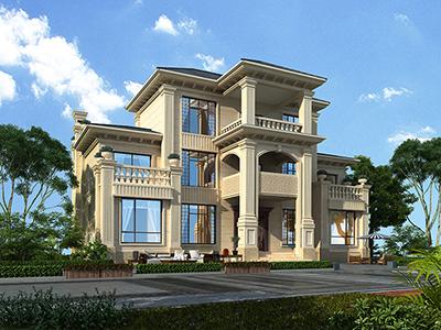 农村住房三层欧式房屋设计图纸 造价50万