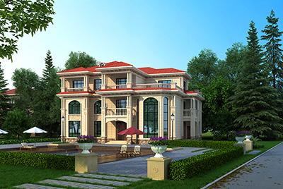 三层别墅设计图纸 漂亮的欧式别墅设计图