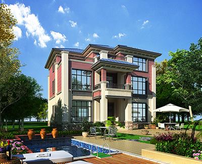 三层新中式独栋别墅设计图