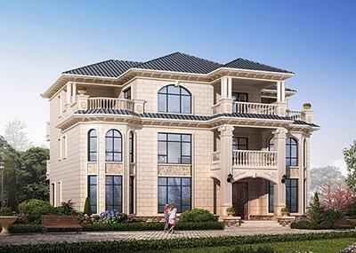 农村三层欧式自建房设计图带堂屋