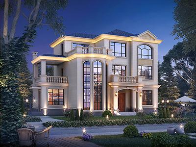 豪华三层别墅设计图纸 房屋造价40万