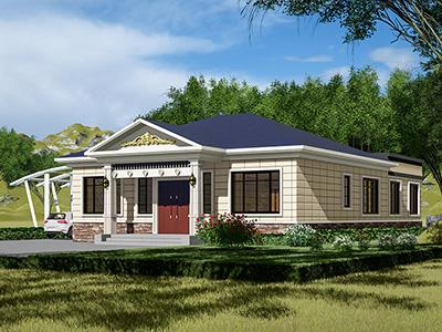 一层欧式别墅设计图纸带院子