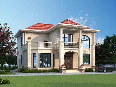 乡村二层自建房屋设计图 12X13米BZ2577-简欧风格
