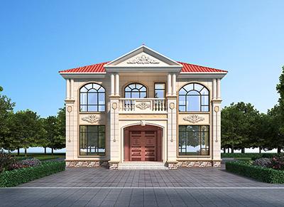二层楼房设计图纸大全 自建房屋图BZ2578-简欧风格
