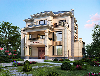 三层别墅图纸全套设计图 造价60万BZ3566-新中式风格