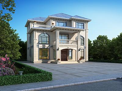 三层欧式别墅设计图纸 农村房屋设计平面图BZ3568-简欧风格