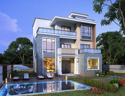 现代风格别墅设计图纸及效果图大全BZ3569-现代风格