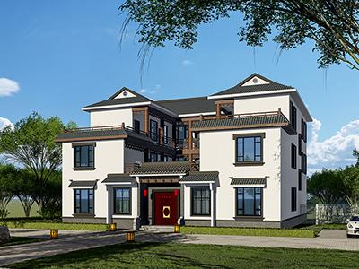 农村四合院自建房设计图  中式风格四合院图