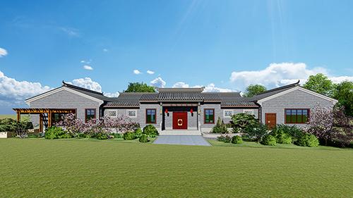 农村四合院一层房屋设计图及效果图