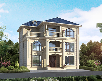 新农村别墅设计图 三层欧式别墅图纸BZ3575-简欧风格