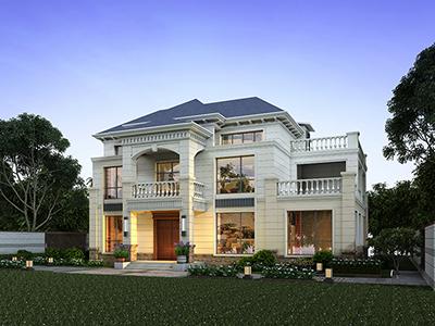 二层房子设计图大全 两层BZ2590-简欧风格
