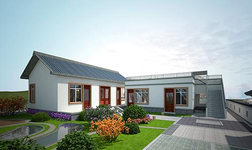 农村一层房屋现代风格的院墙效果图大全