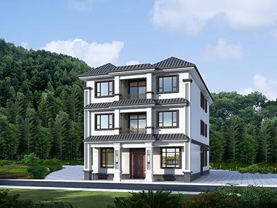 三层楼房设计图农村 自建别墅带大厅