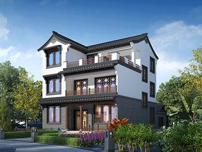 新古典风格三层自建房设计图BZ3581-新古典风格