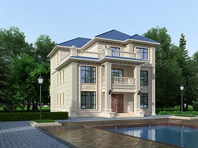 三层欧式别墅设计图纸全套  带架空层
