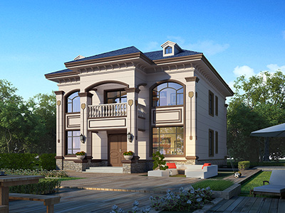 二层楼房设计图 新款带门面房屋图纸