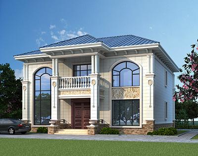 二层楼房设计图 农村带架空层房子图纸BZ2598-简欧风格
