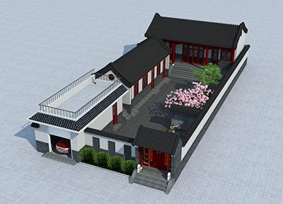 农村四合院一层设计图 自建房带堂屋