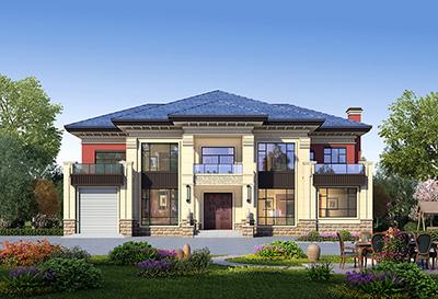 二层住宅平面设计图带车库