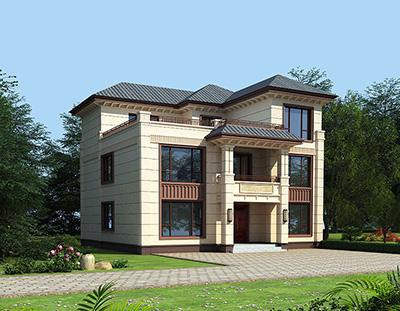 三层自建房设计图 40万农村住宅设计