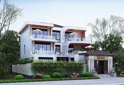 三层现代别墅设计图纸 带空中花园