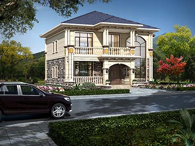 农村二层自建房图纸 欧式别墅