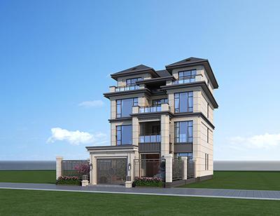 乡村四层别墅设计图纸 新中式BZ426-新中式风格
