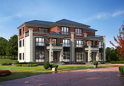 三层房屋设计图带露台 双拼别墅