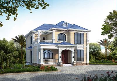 农村二层楼房设计 欧式带阳光房BZ2634-简欧风格