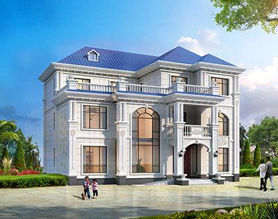 新款三层别墅设计图纸 带架空层BZ3592-简欧风格